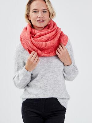 Foulard plisse rose femme