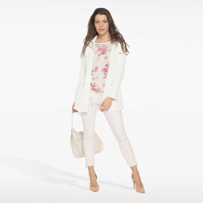 Pantalon 7/8ème avec zips vieux rose femme