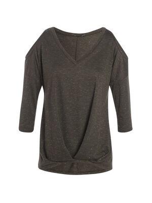T shirt manches 34 vert fonce femme
