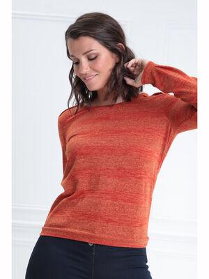 T shirt manches longues rouge femme