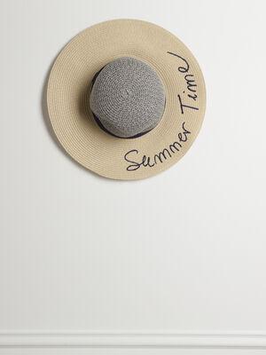 Chapeau de paille sable femme