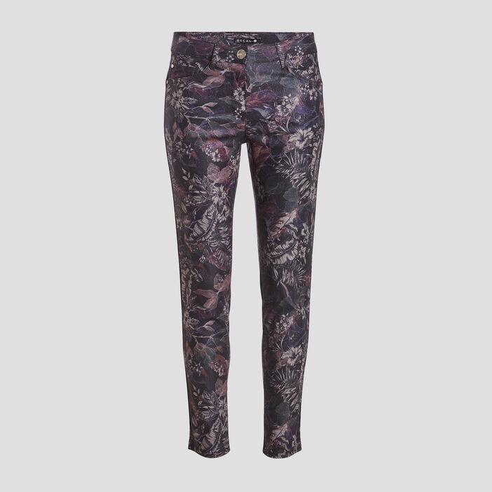 Pantalon ajusté violet foncé femme