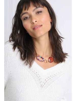 Collier anneaux fantaisie couleur or femme