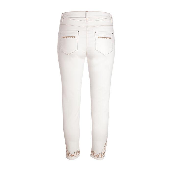 Pantalon 7/8e taille standard ecru femme