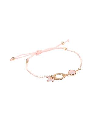 Bracelet fin avec anneaux couleur or femme