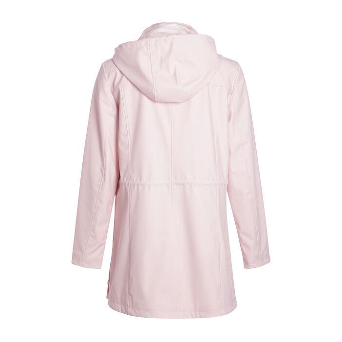Parka longue coupe ajustée rose clair femme