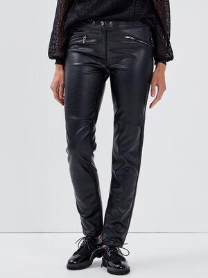 Pantalon ajuste noir femme