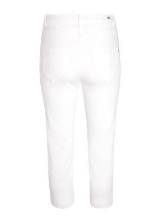 Pantacourt en toile blanc femme