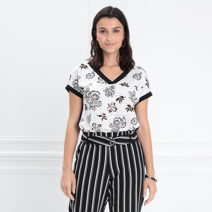 T-shirt manches courtes blanc femme