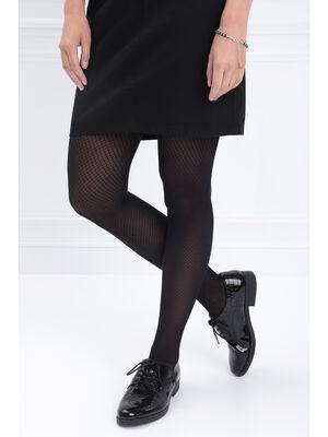 Collants opaques fantaisie noir femme