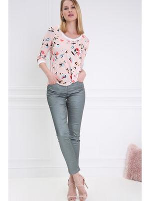 Pantalon taille basculee 78 vert fonce femme