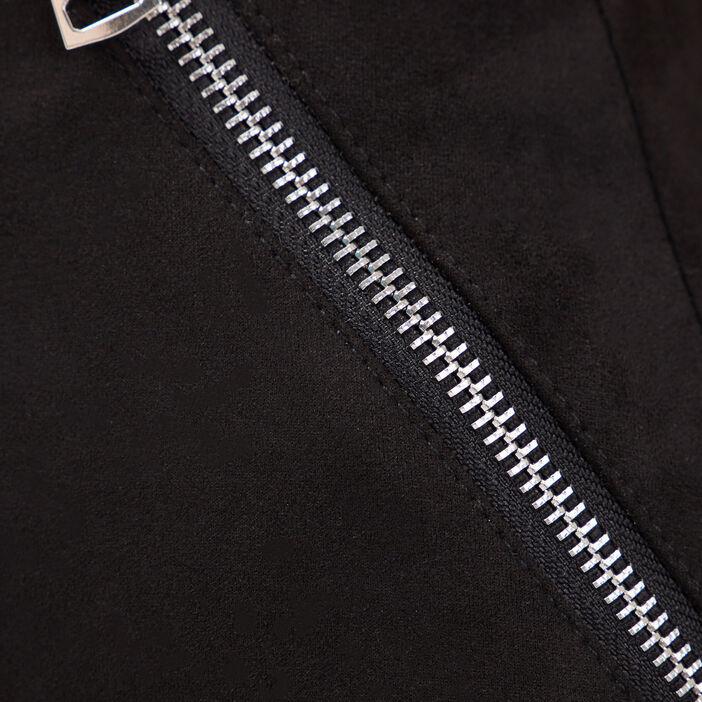Jupe ajustée détails zippés noir femme
