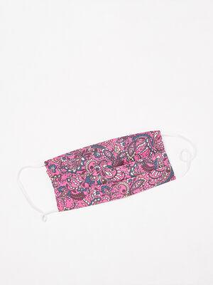 Masque en tissu prune femme