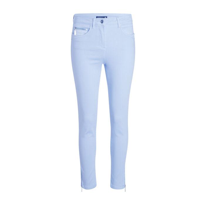 Pantalon ajusté taille haute bleu gris femme