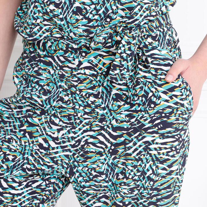 Combinaison-pantalon droite blanc femme