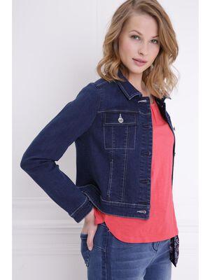 Veste en jean denim brut femme
