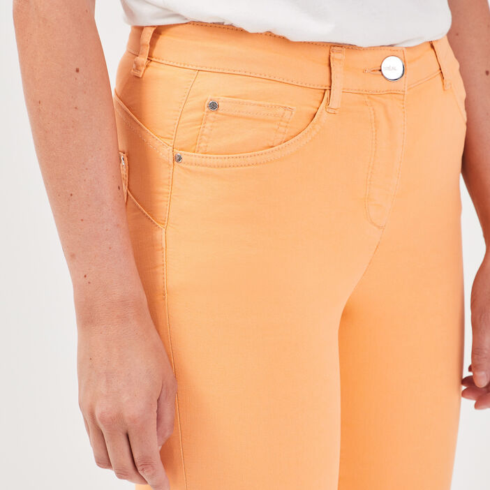 Pantalon léger toucher doux rose saumon femme