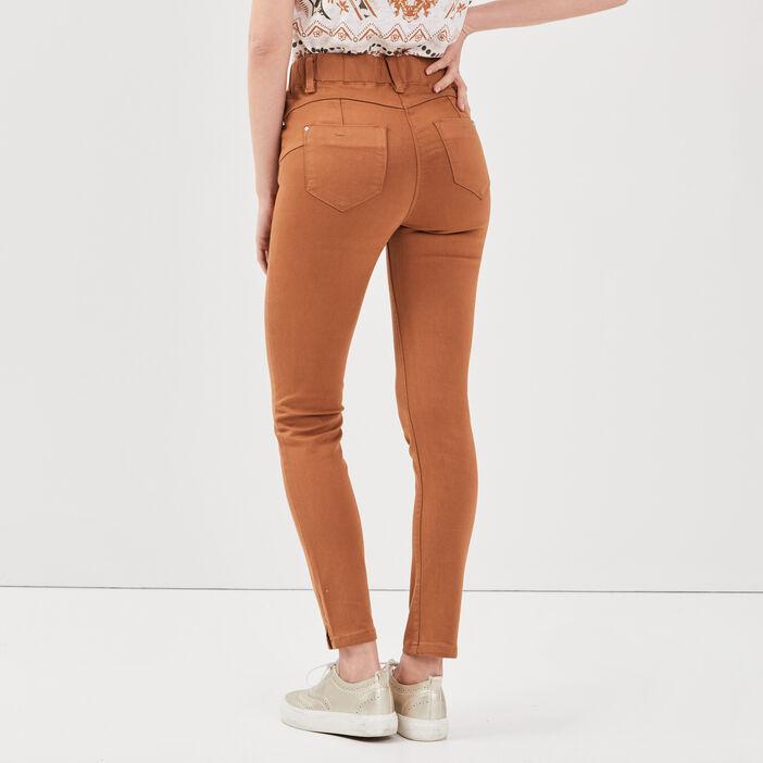 Tregging taille standard marron clair femme
