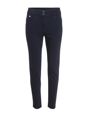 Pantalon 78 taille standard bleu fonce femme