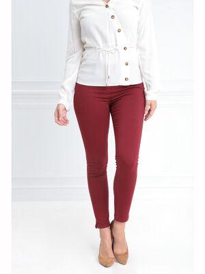 Tregging taille standard rouge fonce femme