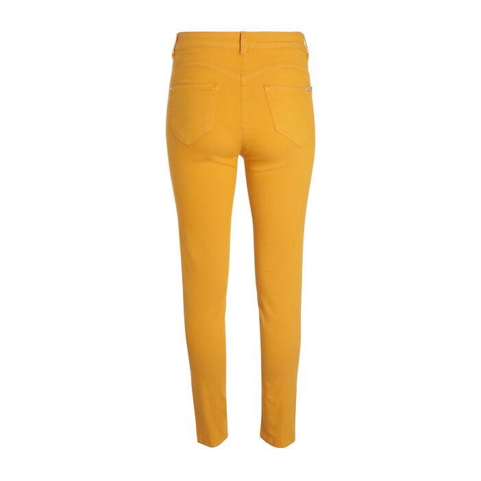 Pantalon léger toucher doux jaune or femme