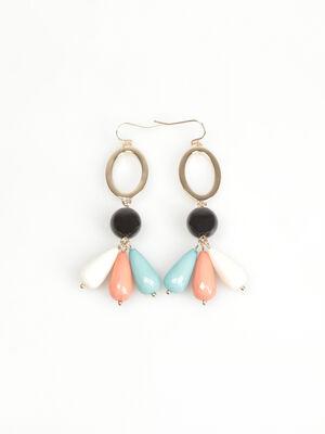 Boucles doreilles perles couleur or femme