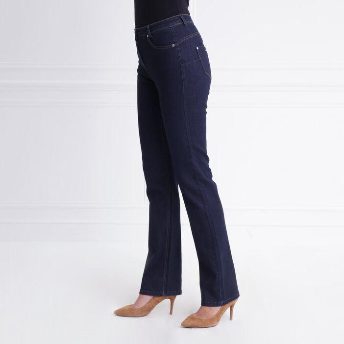 Jean droit taille standard denim brut femme