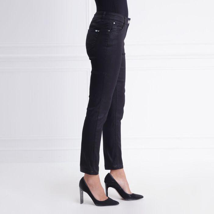order wholesale outlet top brands Pantalon taille basculée coupe ajustée noir femme | Bréal