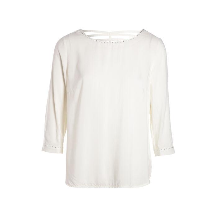 Chemise imprimée avec détail blanc femme