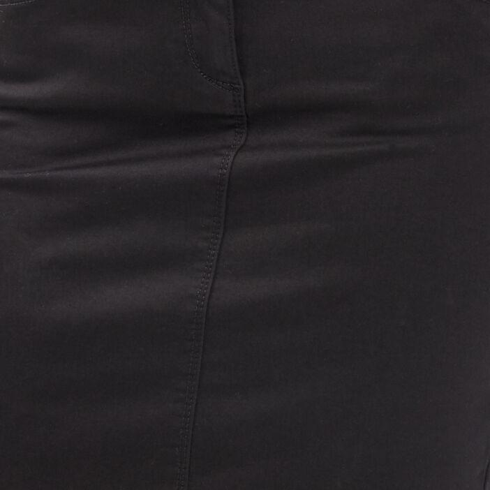 Jupe ajustée ceinture foulard noir femme