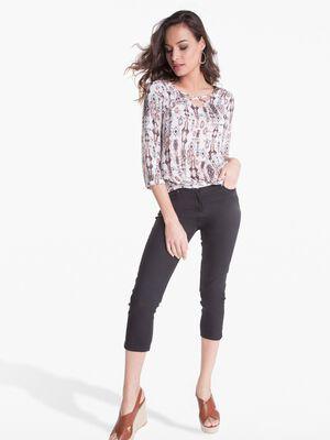 Pantalon 78eme ajuste taille basculee noir femme