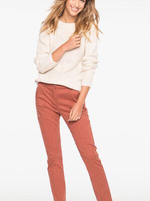 Pantalon 78eme ajustee marron fonce femme