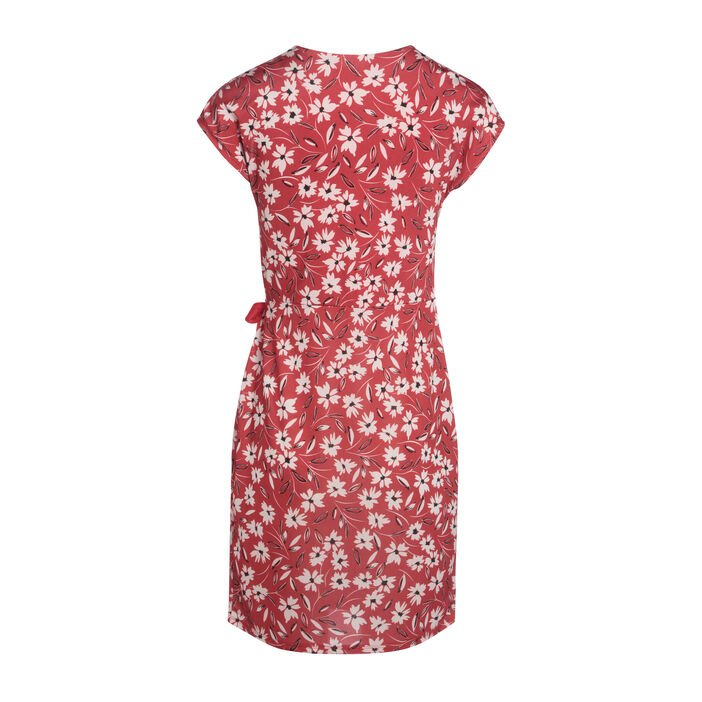 Robe portefeuille à nœud rouge femme