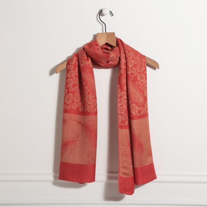 Écharpe rouge femme