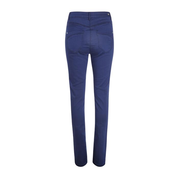 Pantalon ajusté push up bleu foncé femme