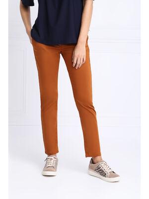 Pantalon chino ajuste 78eme marron femme