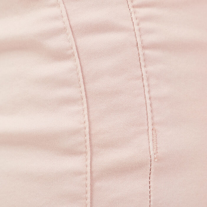 Pantalon ajusté taille basculée vieux rose femme