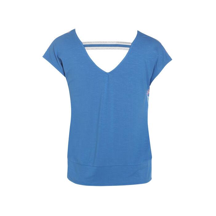 T-shirt imprimé bleu clair femme