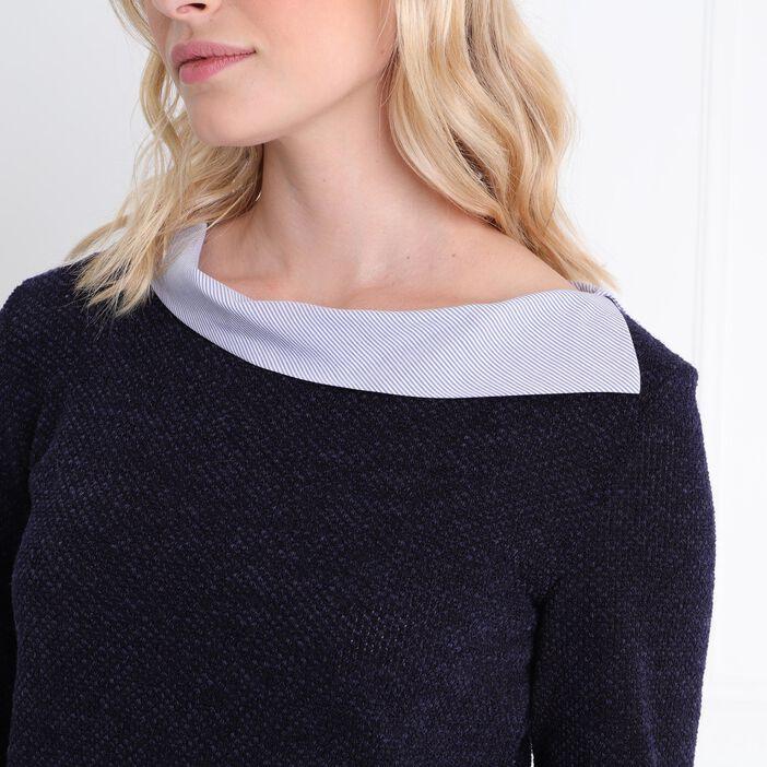 T-shirt manche 3/4 bleu femme