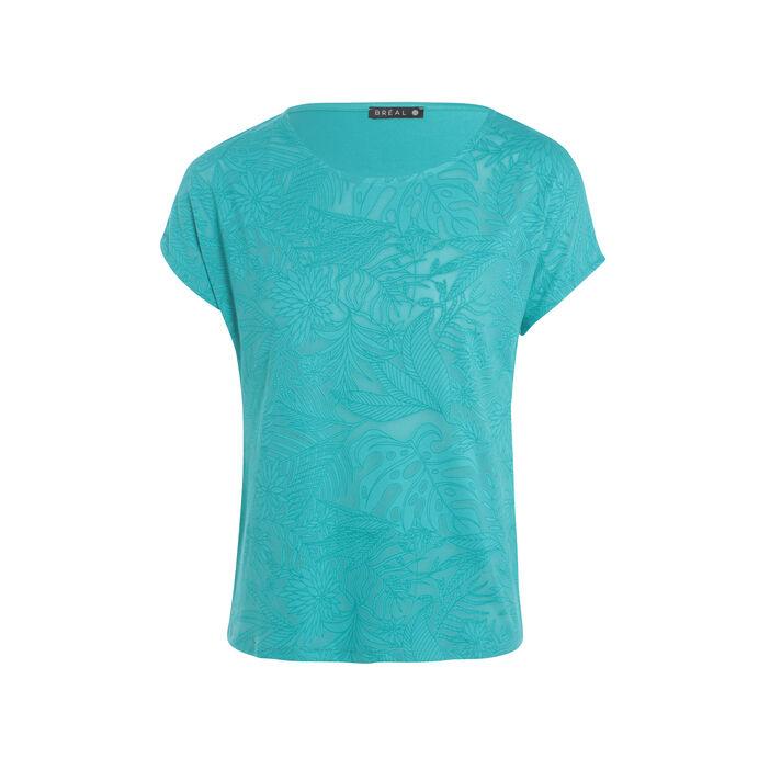 T-shirt avec motif vert turquoise femme