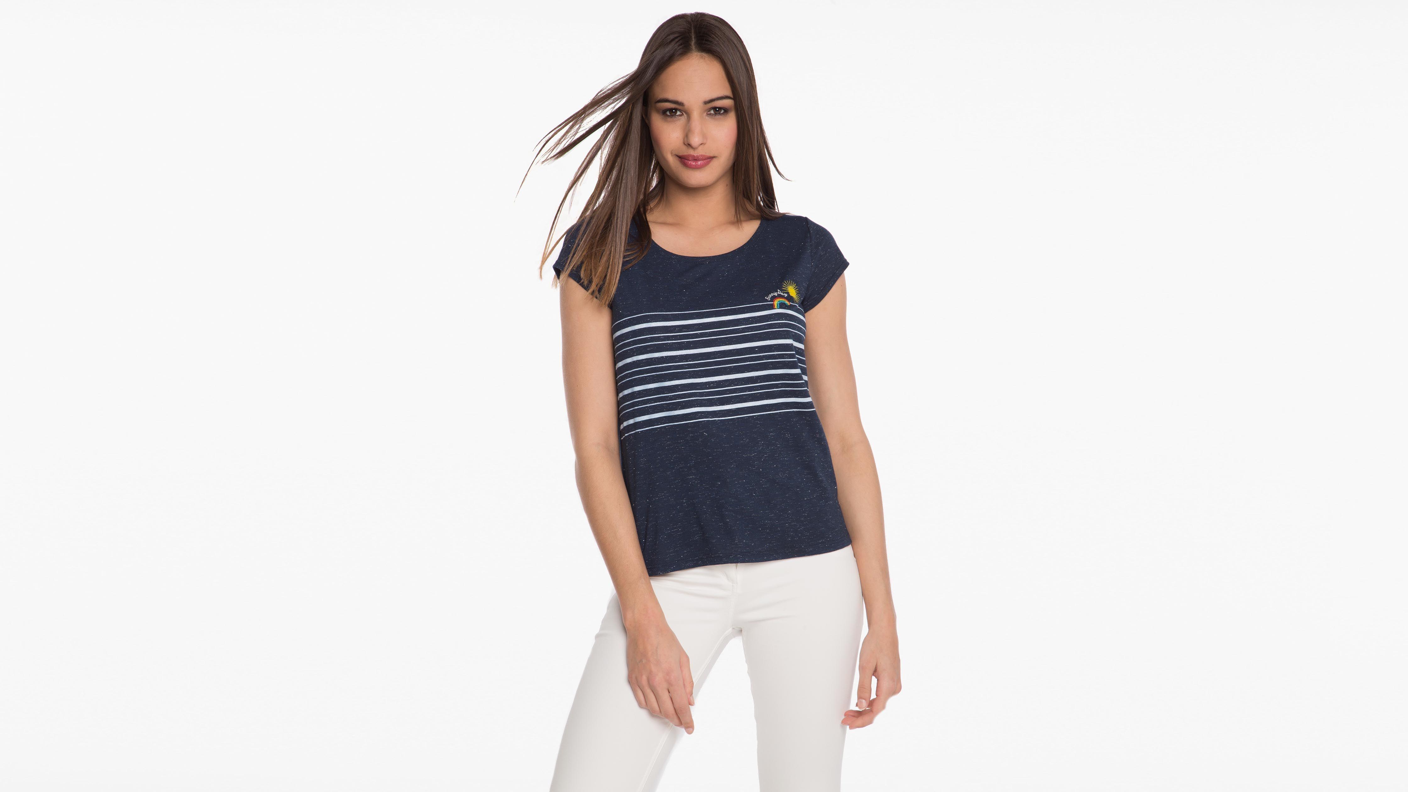 Shirt Femme T T Shirt T Femme Shirt Femme Imprime Imprime Bleu Bleu BCexord