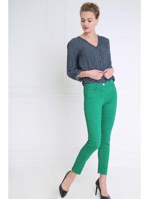 Pantalon leger toucher doux vert femme