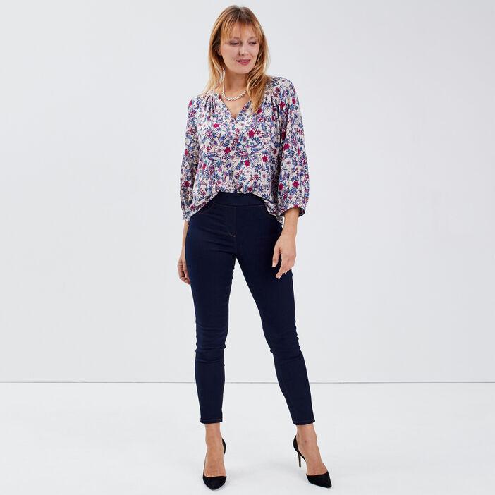 Pantalon tregging denim brut femme