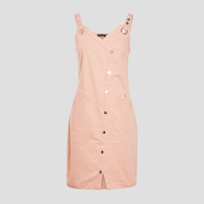 Robe ajustée à bretelles rose clair femme
