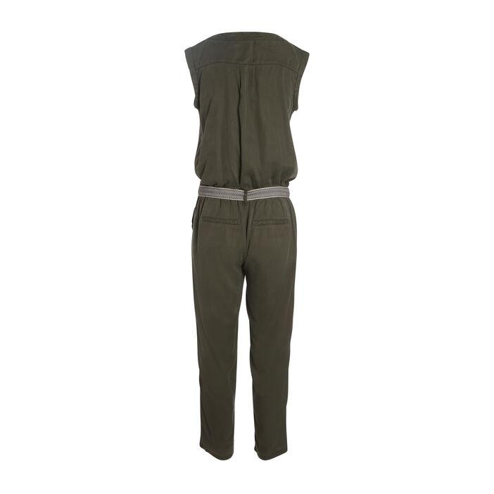 Combinaison pantalon vert kaki femme