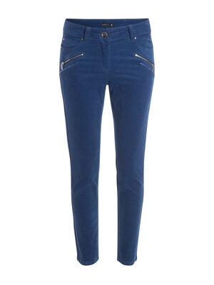 Pantalon ajuste 78eme bleu roi femme
