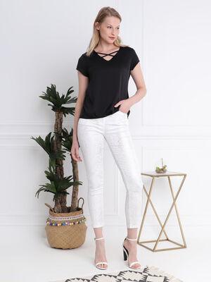 Pantalon 78 taille standard blanc femme