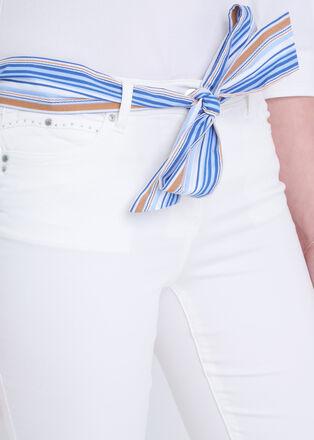 Pantalon taille basculee 78 ecru femme