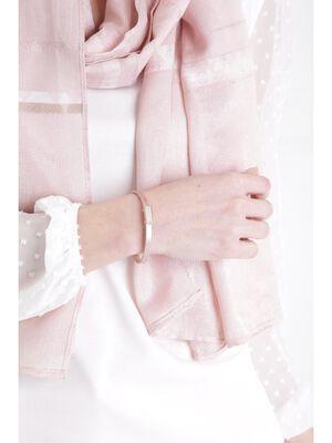 Bracelet lien avec strass rose poudree femme