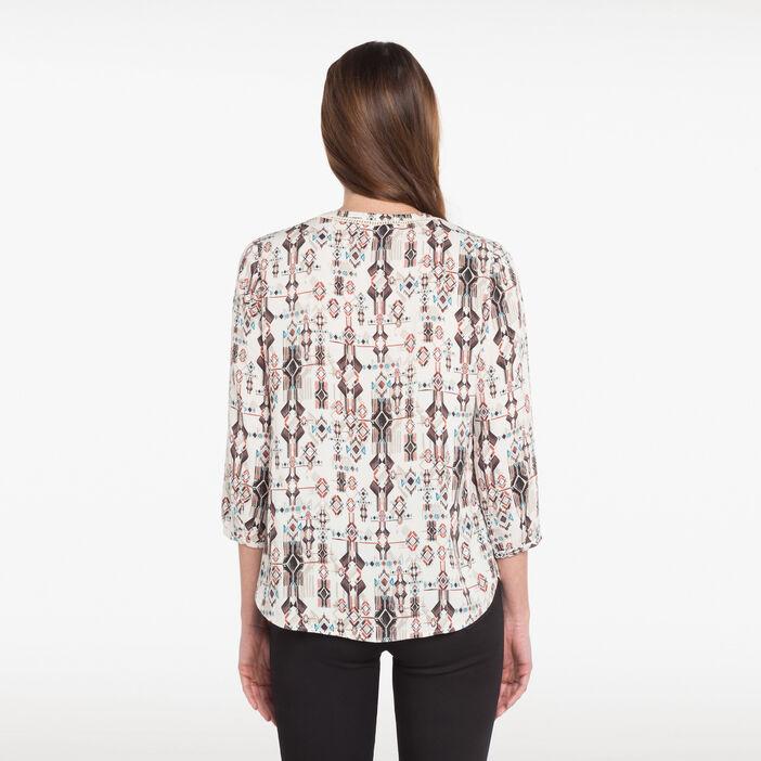 Chemise imprimée blanc femme